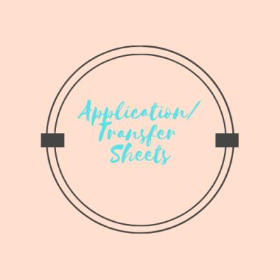 * Application/Transfer Sheets *