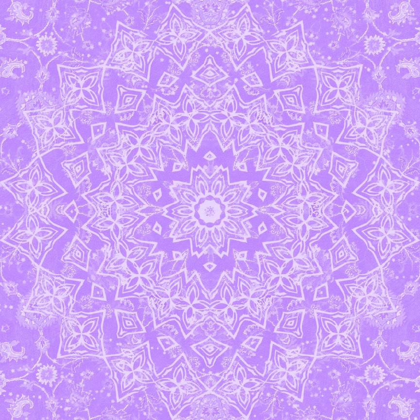 Tie dye mandala sunburst purple